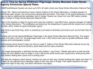 Just in Time for Spring Wildflower Pilgrimage, Smoky Mountai