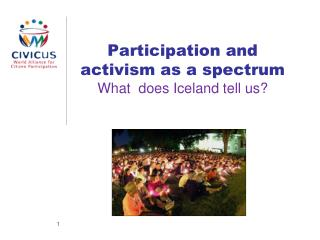 Participation  and activism as a  spectrum What does Iceland tell us?