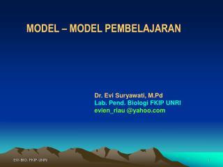 MODEL – MODEL PEMBELAJARAN