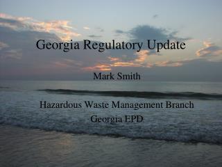 Georgia Regulatory Update