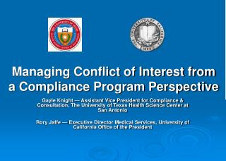 Managing Conflict of Interest from a Compliance Program Perspective