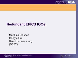 Redundant EPICS IOCs
