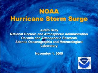 NOAA Hurricane Storm Surge