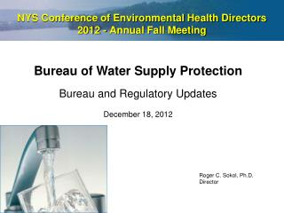 NYS Conference of Environmental Health Directors  2012 - Annual Fall Meeting