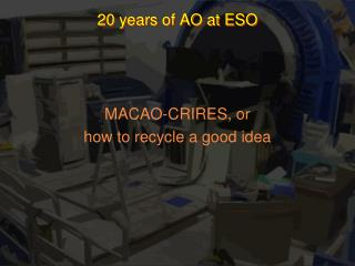 20 years of AO at ESO