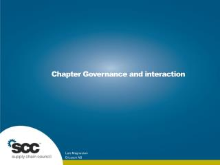 Chapter Governance and interaction