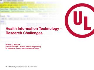Health Information Technology – Research Challenges