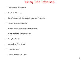 Binary Tree Traversals