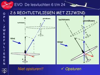 EVO  De lesvluchten 6 t/m 24