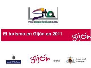El turismo en Gijón en  2011