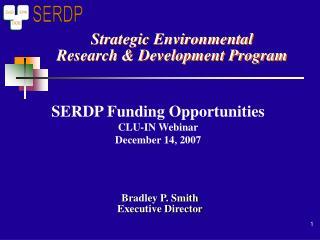 Strategic Environmental Research & Development Program