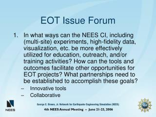 EOT Issue Forum