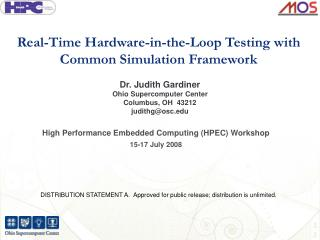 Real-Time Hardware-in-the-Loop Testing with Common Simulation Framework