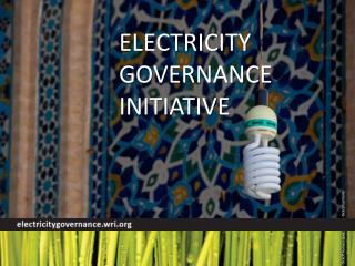 Electricity  Governance  Initiative
