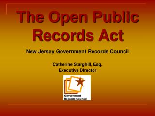 The Open Public Records Act