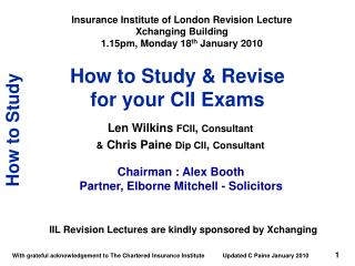 How to Study & Revise  for your CII Exams