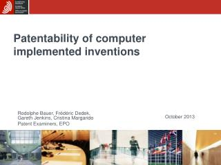 Patentability of computer implemented inventions
