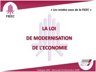 Colloque LME - Mercredi 10 Décembre 2008