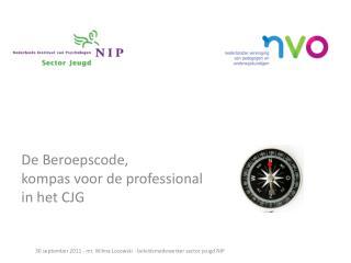 D e Beroepscode, kompas voor de professional in het CJG