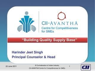 Harinder Jeet Singh Principal Counselor & Head