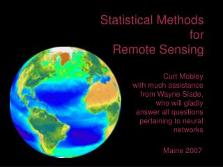 Statistical Methods for Remote Sensing