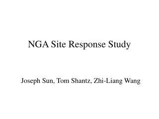 NGA Site Response Study