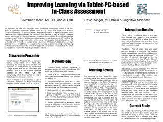 Improving Learning via Tablet-PC-based        In-Class Assessment