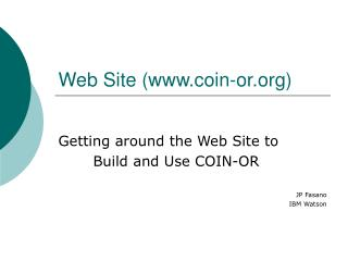Web Site (coin-or)
