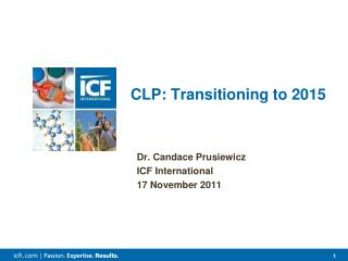 CLP: Transitioning to 2015