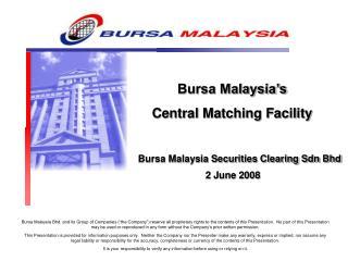 Bursa Malaysia Securities Clearing Sdn Bhd