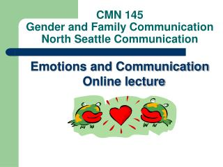 CMN 145 Gender and Family Communication North Seattle Communication
