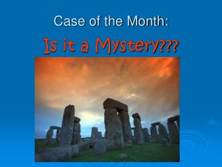 Case of the Month: