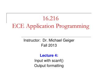 16.216 ECE Application Programming