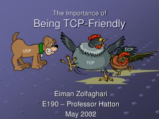 The Importance of  Being TCP-Friendly