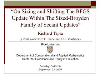 Rice University Department of Computational and Applied Mathematics