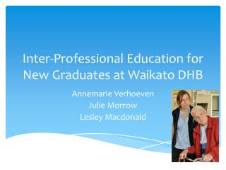 Inter-Professional Education for New Graduates at Waikato DHB