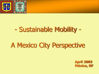 April 2003 México, DF