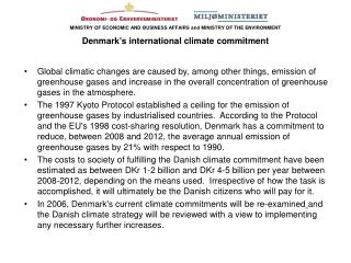 The CO2-quota law is the cornerstone in Denmark's climate strategy