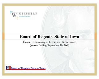 Board of Regents, State of Iowa