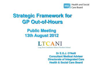 Strategic Framework for  GP Out-of-Hours