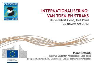 Marc Goffart,  Erasmus Studenten-Ambassadeur voor België