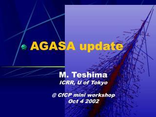 AGASA update