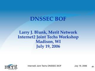 DNSSEC BOF