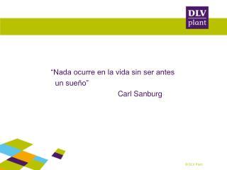 �Nada ocurre en la vida sin ser antes    un sue�o�                                 Carl Sanburg