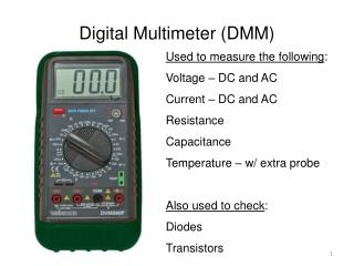 Digital Multimeter (DMM)