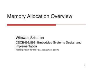Memory Allocation Overview