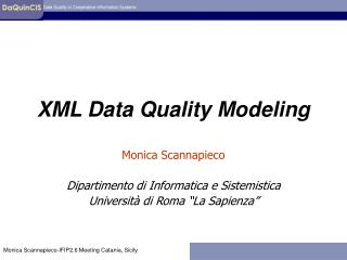 XML Data Quality Modeling