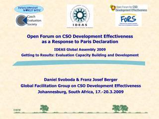 Open Forum on CSO Development Effectiveness as a Response to Paris Declaration