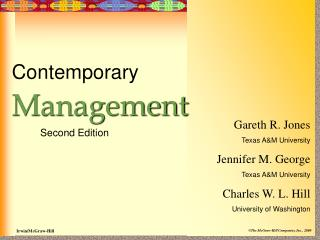 Contemporary Management           Second Edition