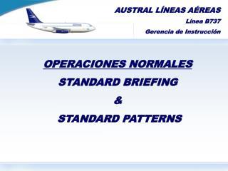 AUSTRAL LÍNEAS AÉREAS Línea  B737 Gerencia de Instrucción